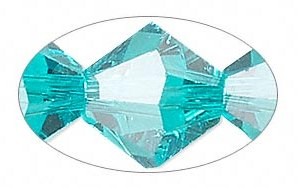 blue zircon crystal