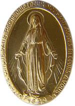miraculous medal front side